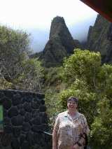 Gale enjoys Iao Valley